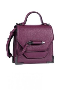 Mackage Rubie Structured Shoulder Bag Berry, $375