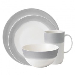Vera Wang Wedgwood Vera Simplicity Grey Ombre Place Setting $69