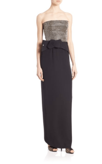 Armani Collezioni Embroidered Strapless Caddy Gown $2,295