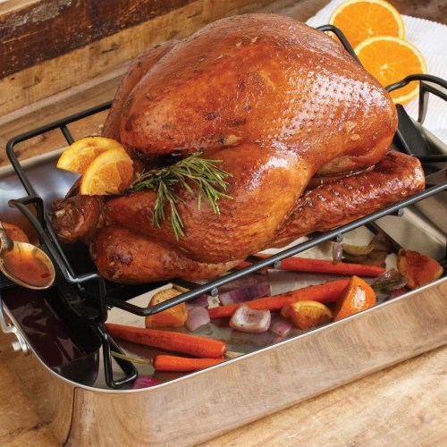 All Clad Gourmet Accessories Large Roaster with Rack, $260
