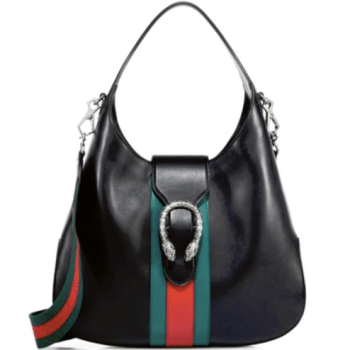 Gucci Dionysus Stripe Hobo Bag Black, $1,980