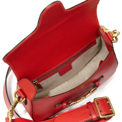 Gucci Lady Web Medium Leather Shoulder Bag Red $2,600