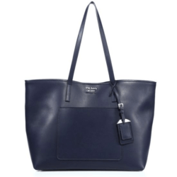 Prada City Leather Tote Navy, $1,390