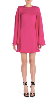 Alexander McQueen Cape A Line Dress $2,165