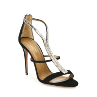 Aquazzura Constance Crystal-Embellished Suede Sandals $1,295