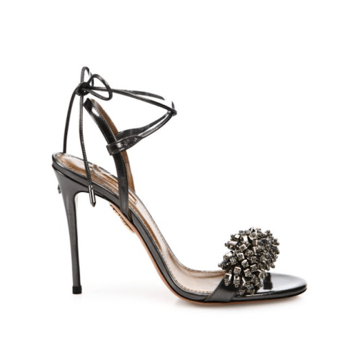 Aquazzura Monaco Crystal & Leather Sandals, $895