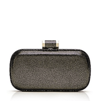 Halston Heritage Curved Minaudiere Antique Silver $295