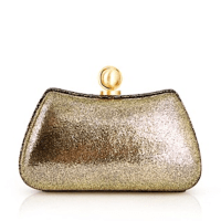 Halston Heritage Curved Minaudiere Pale Gold, $345