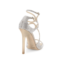 Jimmy Choo Lang Memento 100 Strappy Crystal & Suede Sandals Back $2,095