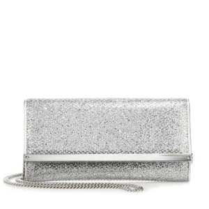 Jimmy Choo Milla Glitter Chain Wallet $725