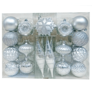 Wondershop Fashion Silver Ornament Set $20