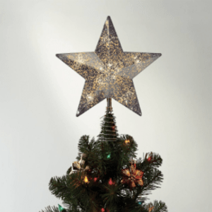 Wondershop Lit Gold Mercury Tree Topper $10