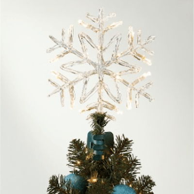 Wondershop Lit LED Snowflake Topper, $35