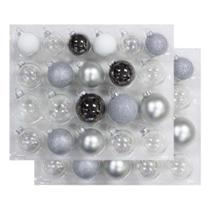 Wondershop Silver Clear Pearl Glass Ornaments $20