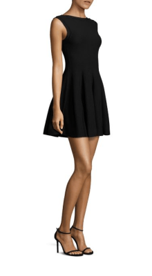 Alice & Olivia Rema Textured Fit-&-Flare Dress Side $275