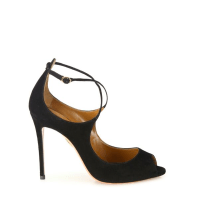 Aquazzura Zani Suede Peep-Toe Pumps Side $785