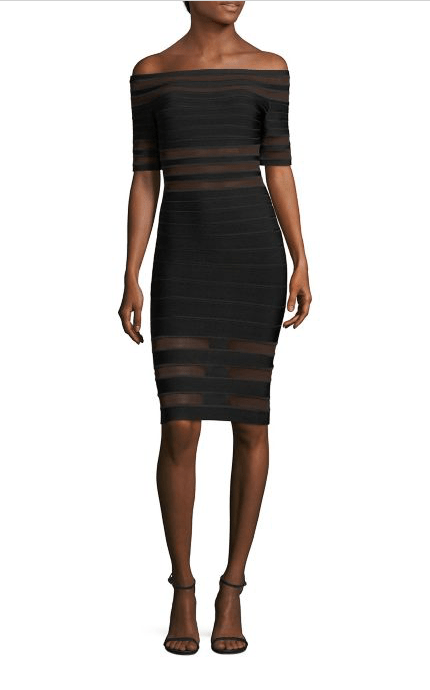 Dresses Evolve Stay the Same Herve Leger Off The Shoulder Dress $1,290