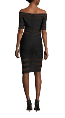 Herve Leger Off The Shoulder Dress Back $1,290