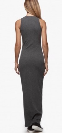 James Perse Sleevless Maxi Dress Heather Charcoal Back $225