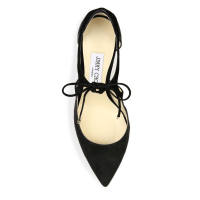 Jimmy Choo Vanessa Cutout Suede & Leather Front-Tie Pumps Top $750