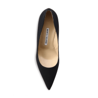 Manolo Blahnik BB 90 Crepe De Chine Point-Toe Pumps Top $595