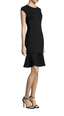 POLO Ralph Lauren Ruffle Hem Ponte Dress Side $298