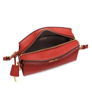 Prada Esplanade Leather Crossbody Rosso Open $1,600