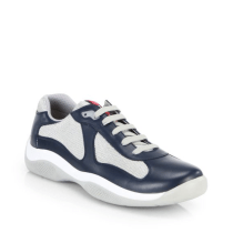 Prada Leather & Mesh Sneakers $595