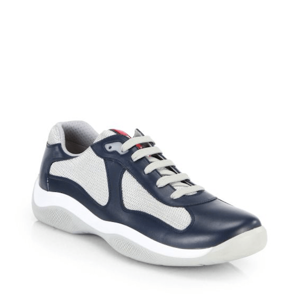 Prada Men's Fashion Sneakers  Leather & Mesh Sneakers $595