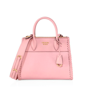 Prada Paradigm Small Leather Tote Pesco $2,400