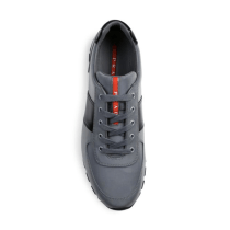 Prada Reflective Leather & Nylon Running Sneakers Top $650