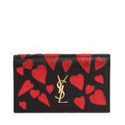 Saint Laurent Kate Monogram Heart Leather Clutch $1,550