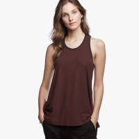 James Perse Contrast Ringer Tank Dark Plum:Mariner $95