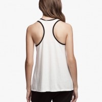 James Perse Contrast Ringer Tank Ice Cream:Black Back $95