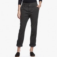 James Perse Cotton Linen Relaxed Pant Carbon Pigment $225