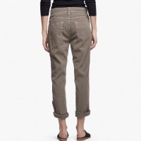 James Perse Cotton Linen Relaxed Pant Khaki Pigment Back $225