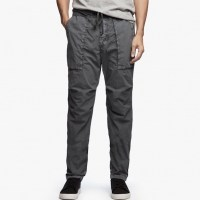 James Perse Stretch Poplin Utility Pant Pipe Pigment $245