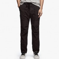 James Perse Stretch Poplin Utility Pant Squid Pigment $245