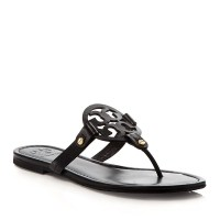 Tory Burch Miller Flat Thong Black $195