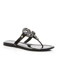 Tory Burch Miller Patent Leather Thong $195