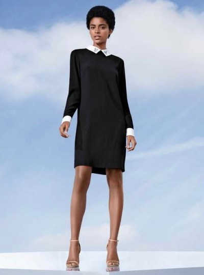 Victoria Beckham Black Collared Dress $35
