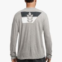 James Perse Crepe Jersey Graphic Tee Heather Grey $145