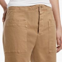 James Perse Cropped Work Pant Tabac Closeup $225