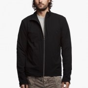 James Perse Performance Jersey Zip-Up Jacket Black $350