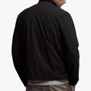 James Perse Performance Jersey Zip-Up Jacket Black Back $350