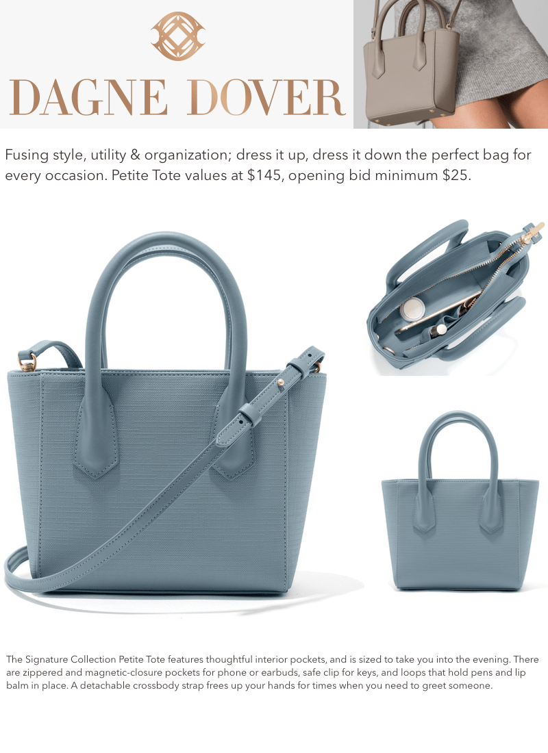 Bryce's Fight Silent Auction DAGNE DOVER Petite Tote