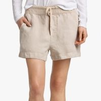 James Perse Canvas Linen Short Driftwood Pigment $165