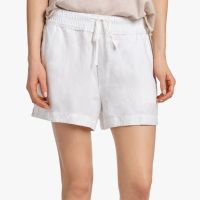James Perse Canvas Linen Short White $165