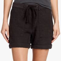 James Perse Linen Surplus Short Black $165