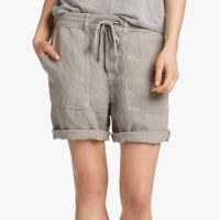 James Perse Linen Surplus Short Solitaire Pigment $165